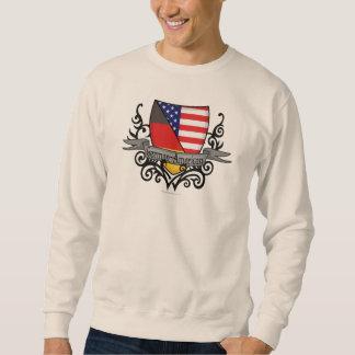 Bandera Alemán-Americana del escudo Sudadera