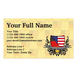 Bandera Alemán-Americana del escudo Tarjetas De Visita