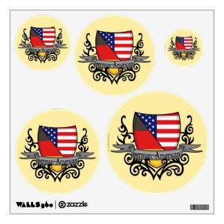Bandera Alemán-Americana del escudo Vinilo Adhesivo