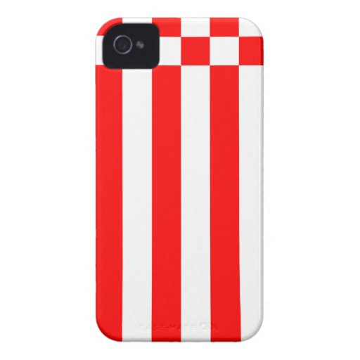 Bandera - alemán de Fahne - de Flagge Bremen iPhone 4 Protectores