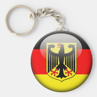 Bandera alemana 2,0 llavero redondo tipo pin