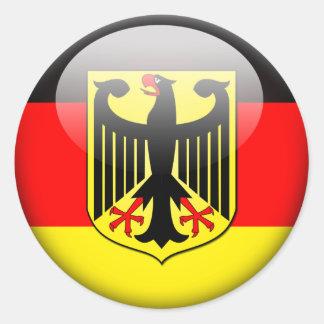 Bandera alemana 2,0 pegatina redonda