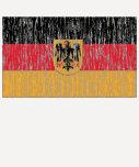 Bandera alemana apenada camisetas