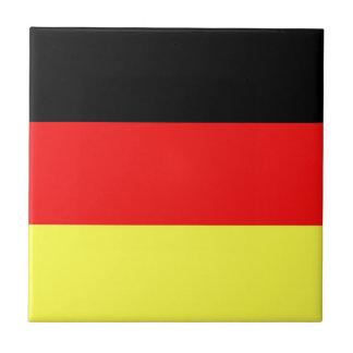 Bandera alemana azulejo cuadrado pequeño