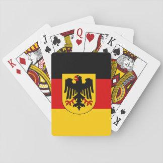 Bandera alemana cartas de juego