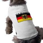 Bandera alemana camisetas de perrito