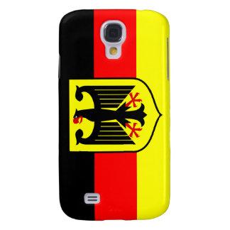 Bandera alemana con el escudo de armas funda para galaxy s4