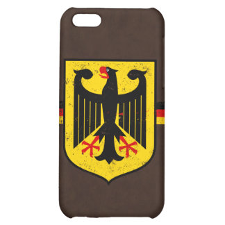 Bandera alemana con el escudo de armas