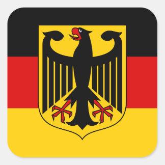 Bandera alemana con el pegatina del escudo