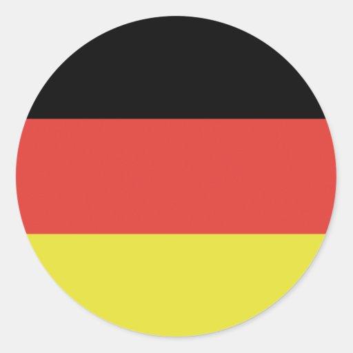 Bandera alemana de Alemania de la bandera Pegatina Redonda