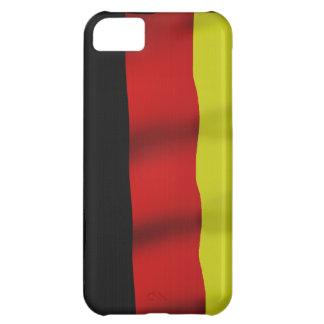 Bandera alemana de la caja patriótica del teléfono carcasa para iPhone 5C