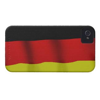Bandera alemana de la caja patriótica del teléfono funda para iPhone 4