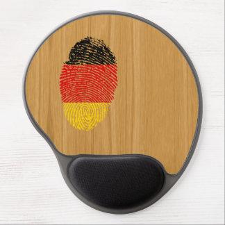 Bandera alemana de la huella dactilar del tacto alfombrillas de raton con gel