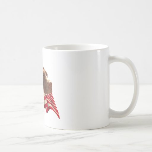 Bandera alemana del indicador de pelo corto tazas de café