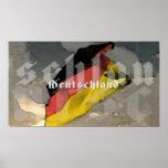 Bandera alemana Deutschland Poster