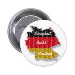Bandera alemana Einigkeit Recht Freiheit del botón Pins