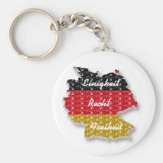 Bandera alemana Einigkeit Recht Freiheit del Llavero Redondo Tipo Pin