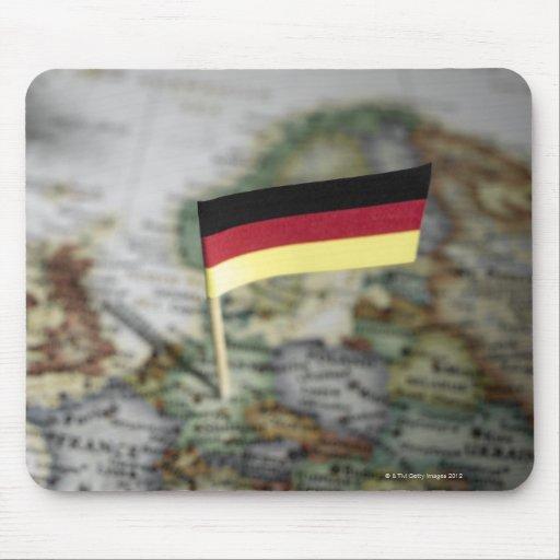 Bandera alemana en mapa alfombrilla de raton
