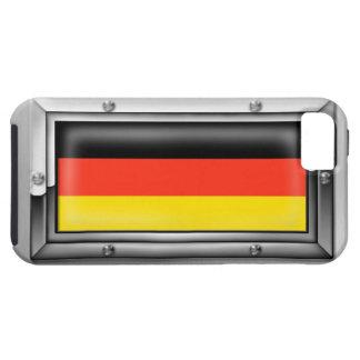 Bandera alemana en un marco de acero funda para iPhone SE/5/5s
