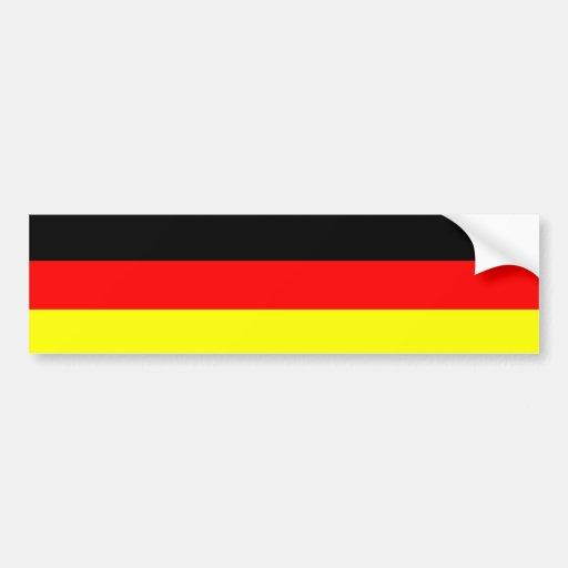 Bandera alemana etiqueta de parachoque