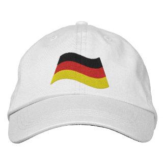Bandera alemana gorras bordadas