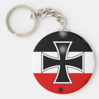 Bandera alemana imperial llaveros