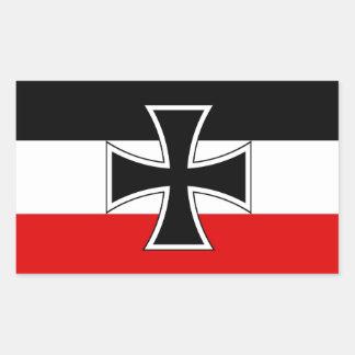 Bandera alemana imperial pegatina rectangular