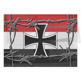 Bandera alemana imperial tarjetas