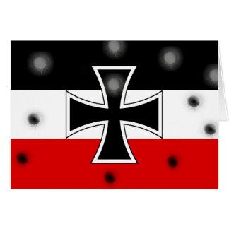 Bandera alemana imperial felicitación