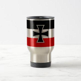 Bandera alemana imperial taza de viaje