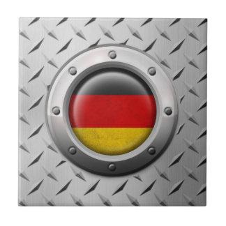 Bandera alemana industrial con el gráfico de acero azulejos cerámicos