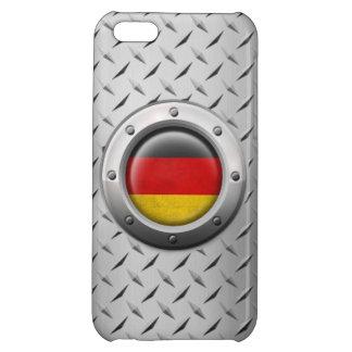 Bandera alemana industrial con el gráfico de acero