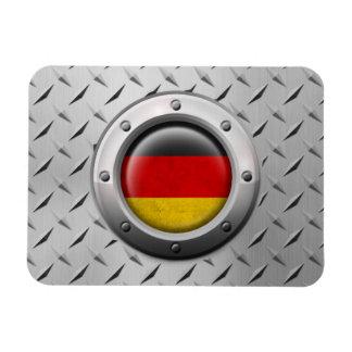 Bandera alemana industrial con el gráfico de acero imán flexible