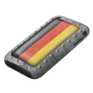 Bandera alemana industrial funda resistente para iPhone 3
