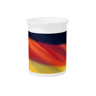 Bandera alemana jarras de beber