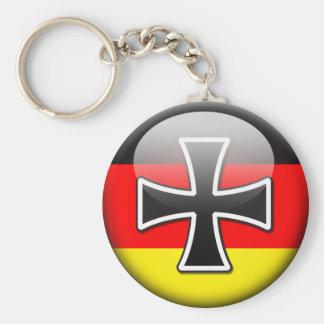 Bandera alemana llavero redondo tipo pin