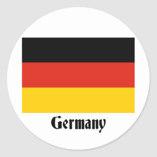 Bandera alemana etiquetas redondas