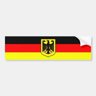 Bandera alemana pegatina de parachoque