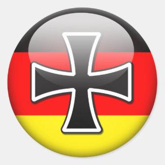 Bandera alemana pegatina redonda