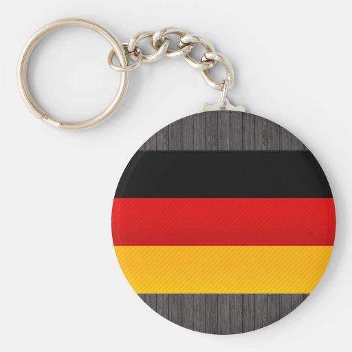 Bandera alemana pelada moderna llaveros personalizados