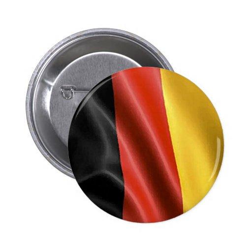Bandera alemana pin redondo 5 cm