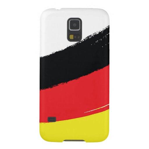Bandera alemana pintada fundas para galaxy s5