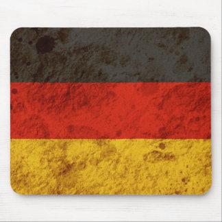 Bandera alemana rugosa alfombrilla de ratones