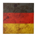 Bandera alemana rugosa teja