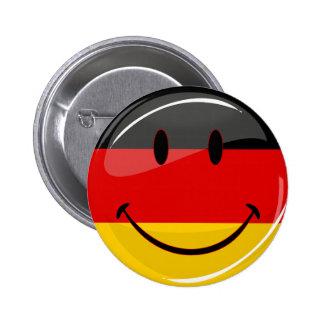 Bandera alemana sonriente chapa redonda 5 cm
