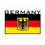 Bandera alemana tarjetas postales