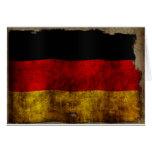 Bandera alemana - vintage felicitacion