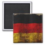 Bandera alemana - vintage imán de frigorífico