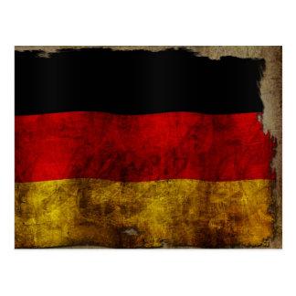 Bandera alemana - vintage postal