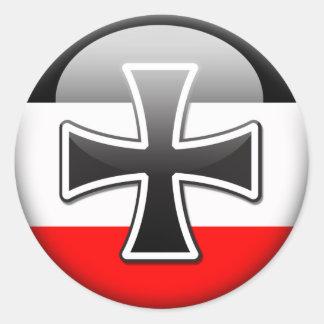 Bandera alemana WWI Pegatina Redonda